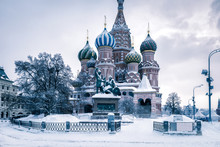 St Basil's Cathedral In Cold W...