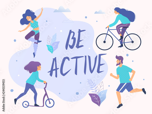 Fotografia Be active vector illustration