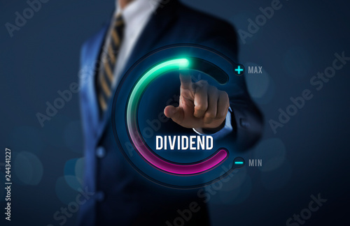Fotografía  Dividend growth or increase dividend concept