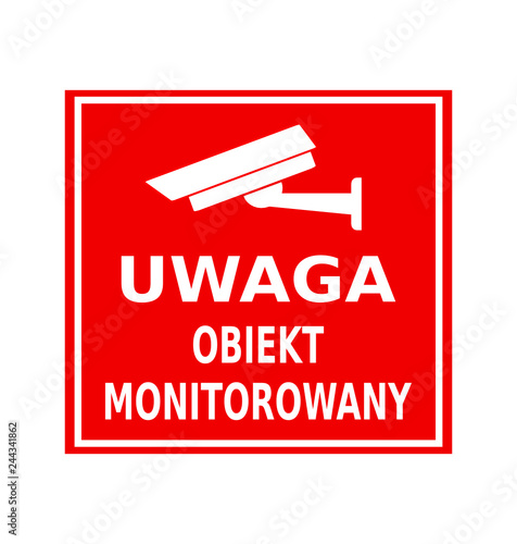 Fototapeta obiekt monitorowany obraz
