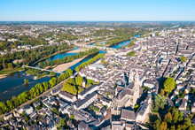 Tours Aerial Panoramic View, F...