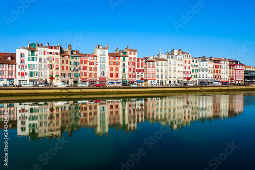 Colorful houses in Bayonne, France