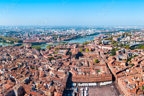 Valokuva  Toulouse aerial panoramic view, France