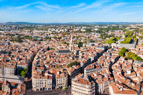 Papiers peints Lieu d Europe Montpellier aerial panoramic view, France