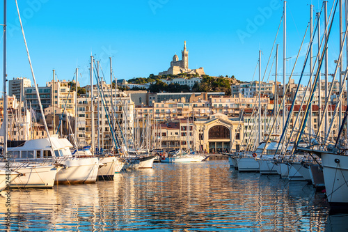 Canvas Prints Ship Old Port in Marseille, France