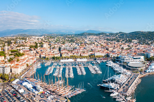 Fotografía  Cannes aerial panoramic view, France