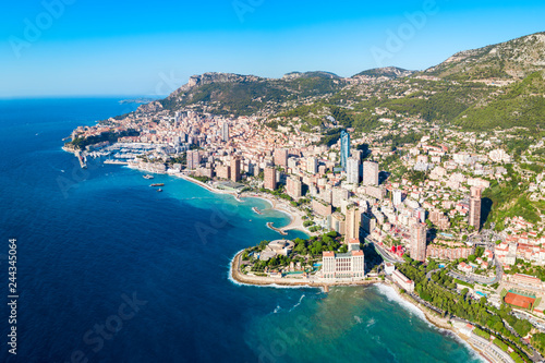 Photo Stands Ship Monte Carlo, Monaco aerial view