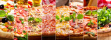 collage of various types of pizza - 244352425