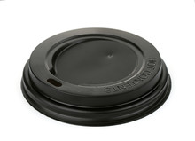Black Plastic Disposable Coffee Cup Lid