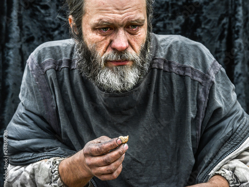 Enjoyable Homeless Man Crying Portrait Closeup Buy This Stock Photo Interior Design Ideas Inesswwsoteloinfo
