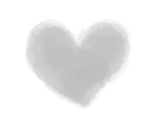 Watercolor Digital Heart On Wh...
