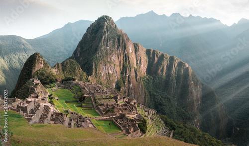 Machu Picchu sunrise, Peru, South America, One of the New Seven Wonders of the World, UNESCO