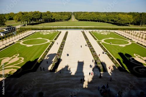Photo sur Toile Gris traffic Jardins à la Française du Château de Chambord