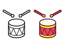 Cartoon Drum Icon