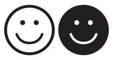 Smile Icons. Happy Face Symbols.