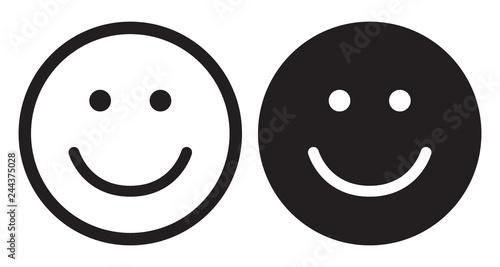 Fotografie, Obraz  Smile icons. Happy face symbols.