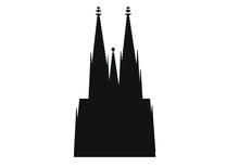 Cathedral Skyline Of German City Of Cologne.