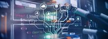 IOT, Internet Of Things, Telecommunication Concept Data Cener.