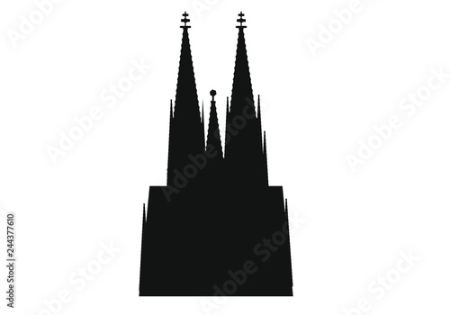 Fotografia cathedral skyline of german city of Cologne.