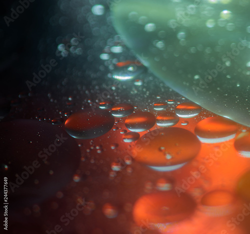 Fotografija  Oil in water bubbles abstract colorful background