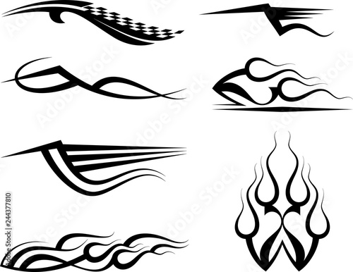 Tribal Car Decal : Vinyl Ready, Vehicle Graphics Design