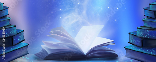 An open book with a magical fantasy Fototapet