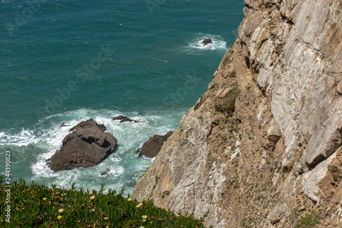Fotografia  View at Cabo da Roca Lighthouse (Portuguese: Farol de Cabo da Roca) which is Portugal's  most westerly point