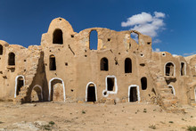 Granaries (grain Stores) Of A Berber Fortified Village, Known As  Ksar.  Ksar Jlidet, Tunisia