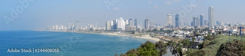 Poster de jardin Paris The panoramic view of Tel Aviv, shot from Jaffa • Israel