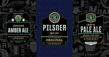 Vector Vintage Beer Labels