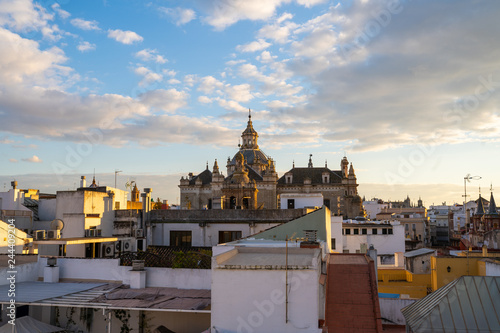 Foto op Aluminium Florence Church in Seville, Spain