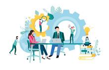 People Work, Study, Plan, Analyze And Increase Efficiency.