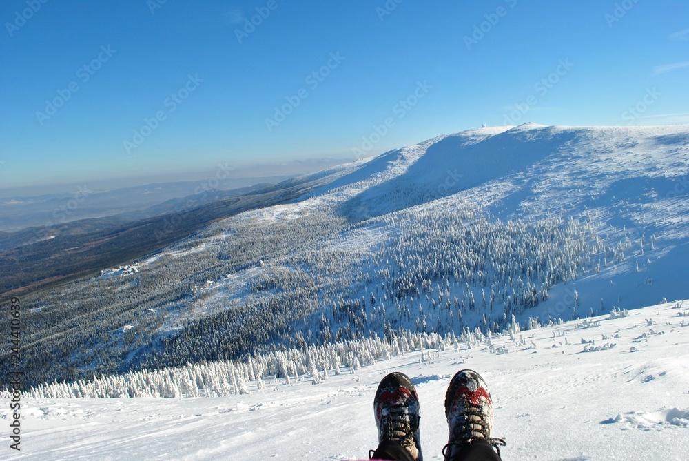 Fototapeta Ferie zimowe w górach