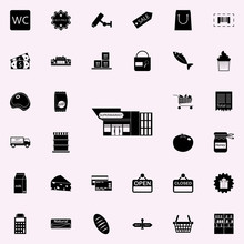 Produse Store Icon. Market Icons Universal Set For Web And Mobile