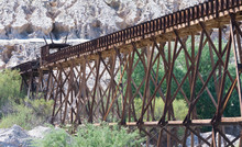 Wooden Railroad Trestle For Th...