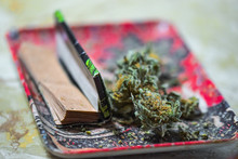 Pot Rolling Tray And Papers