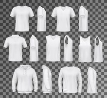 Male Clothes Isolated Tops, Sh...
