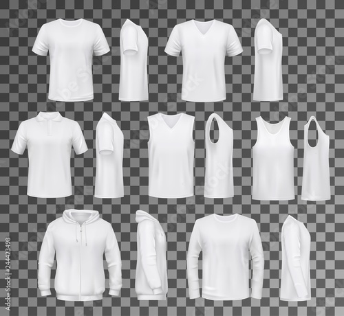 Fényképezés Male clothes isolated tops, shirts and hoodie