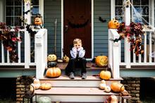 Sad Boy In A Halloween Costume