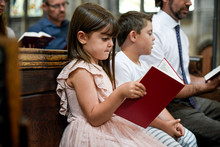 Kids Joining Their Father In Prayer