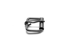 Metal Buckle Isolated On A White Background.