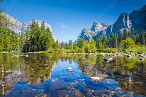 Wall Murals Central America Country Yosemite National Park in summer, California, USA