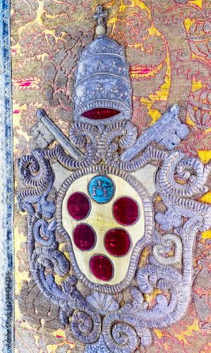 Papal Symbol Papacy San Lorenzo Medici Church Florence Italy Tapéta, Fotótapéta