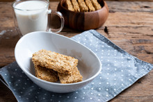 Whole Grain Wheat Biscuits Breakfast Cereal