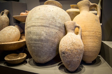 Display Of Ancient Pottery
