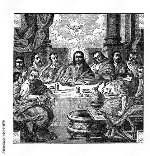 Fotografie, Obraz The Last Supper. Jesus Christ with the apostles. By ruskpp