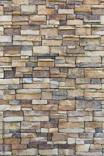 Abstract stone tile texture brick wall background. Canvas Print