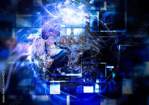 Fototapeta 抽象的な地球の背景