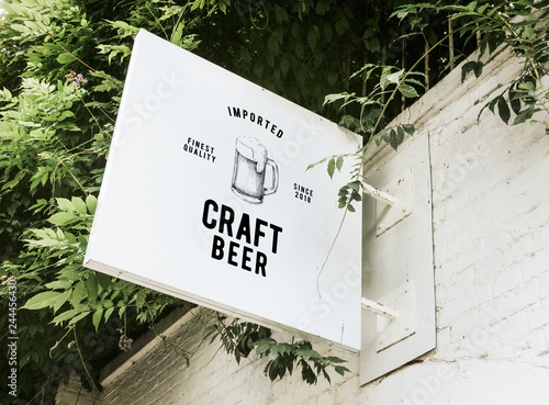 Poster Biere, Cidre Imported craft beer board mockup