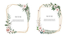 Vector Floral Botanical Card D...